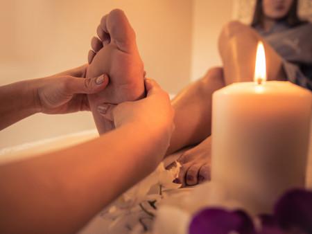 Ontstress arrangement voor rug en voeten