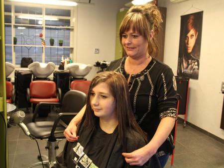 Make-over bij kapsalon Hairclips