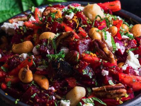 Salade van rode biet met citrus